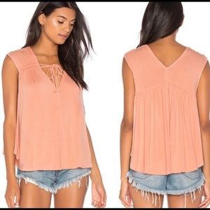 Free People Back In Town Tassel Peach top